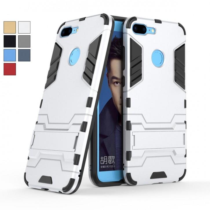 COOVY® Cover für Huawei Honor 9 Lite Bumper Case, Doppelschicht aus Plastik + TPU-Silikon, extra stark, Anti-Shock, Standfunktion