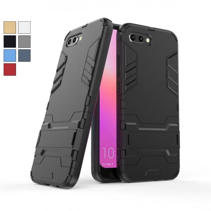 COOVY® Cover für Huawei Honor 10 Bumper Case, Doppelschicht aus Plastik + TPU-Silikon, extra stark, Anti-Shock Hülle, Standfunktion |