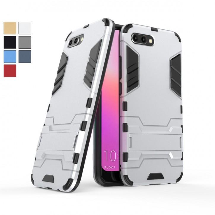 COOVY® Cover für Huawei Honor 10 Bumper Case, Doppelschicht aus Plastik + TPU-Silikon, extra stark, Anti-Shock, Standfunktion
