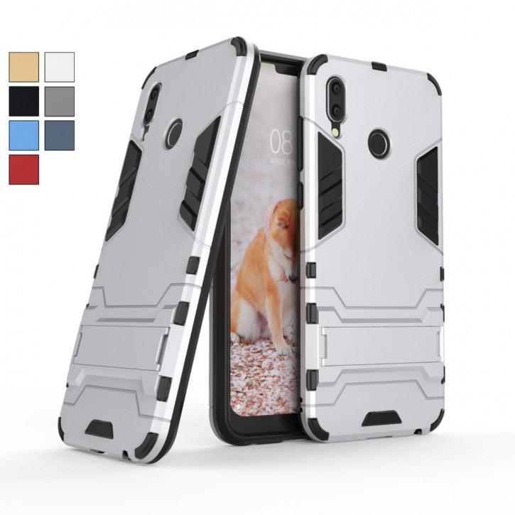 COOVY® Cover für Huawei Honor play Bumper Case, Doppelschicht aus Plastik + TPU-Silikon, extra stark, Anti-Shock, Standfunktion