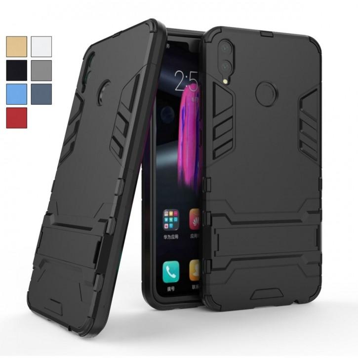 COOVY® Cover für Huawei Honor 8X / Honor View 10 lite Bumper Case, Doppelschicht aus Plastik + TPU-Silikon, extra stark, Anti-Shock Hülle, Standfunktion  
