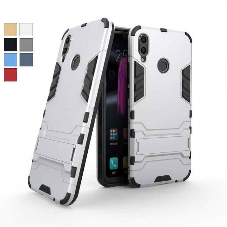 COOVY® Cover für Huawei Honor 8X / Honor View 10 lite Bumper Case, Doppelschicht aus Plastik + TPU-Silikon, extra stark, Anti-Shock, Standfunktion