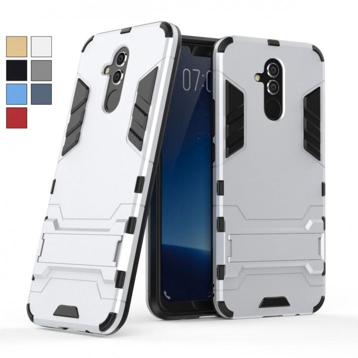 COOVY® Cover für Huawei Mate 20 lite Bumper Case, Doppelschicht aus Plastik + TPU-Silikon, extra stark, Anti-Shock, Standfunktion