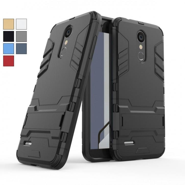 COOVY® Cover für LG K8 (Model 2018) Bumper Case, Doppelschicht aus Plastik + TPU-Silikon, extra stark, Anti-Shock, Standfunktion