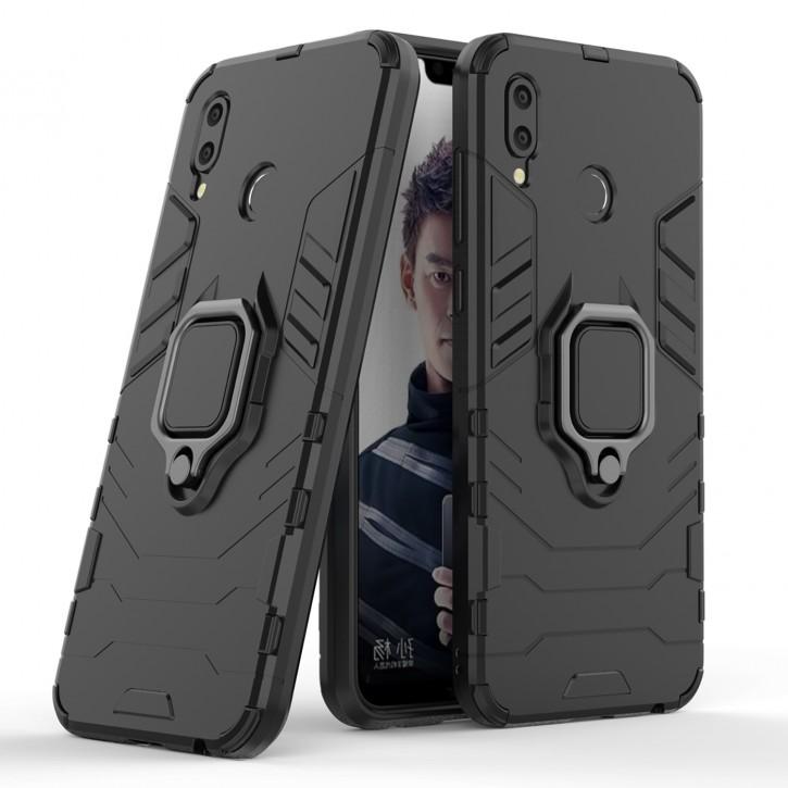COOVY® Cover für Huawei Honor play Bumper Case, Plastik + TPU-Silikon, extra stark, Anti-Shock, Stand Funktion + Magnethalter kompatibel |