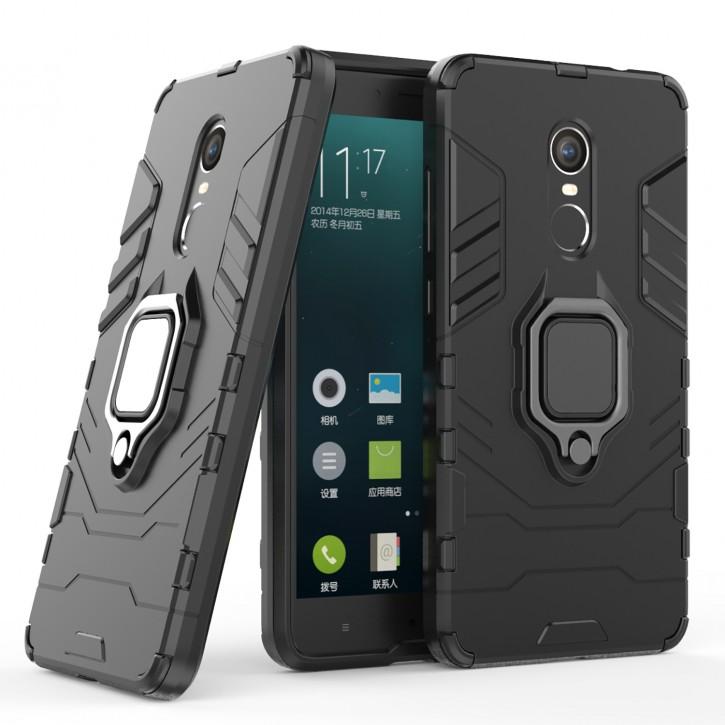 COOVY® Cover für Xiaomi Redmi Note 4 / Note 4X Bumper Case, Plastik + TPU-Silikon, extra stark, Anti-Shock, Stand Funktion + Magnethalter kompatibel |