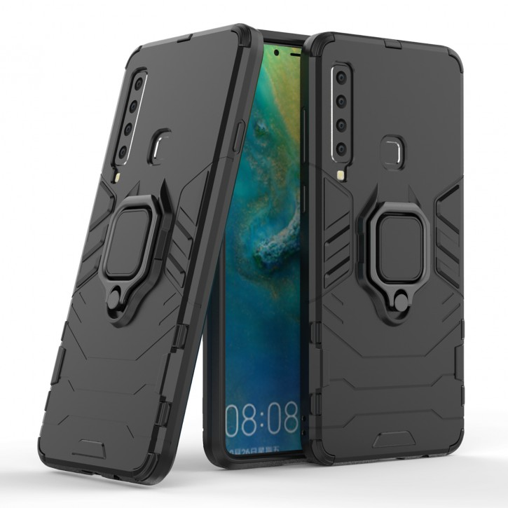 COOVY® Cover für Samsung Galaxy A9 SM-A920 / SM-A920F/DS / A9 Star Pro/ A9s (Model 2018) Bumper Case, Plastik + TPU-Silikon, extra stark, Anti-Shock, Stand Funktion + Magnethalter