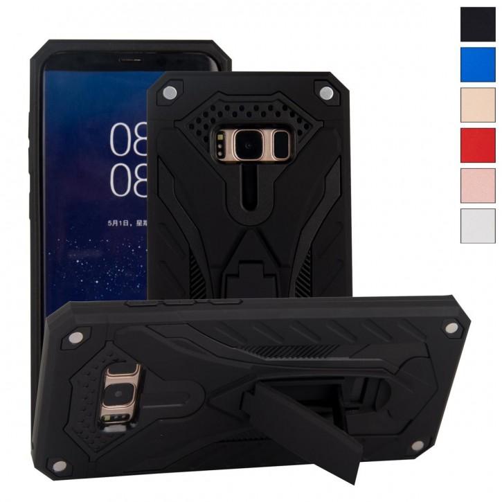COOVY® Cover für Samsung Galaxy S8 SM-G950F / SM-G950FD Case, Hülle Doppelschicht aus Plastik + TPU-Silikon, extra stark, Anti-Shock, Standfunktion