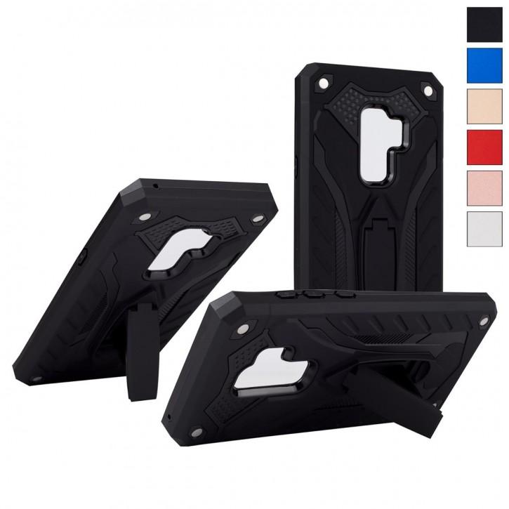 COOVY® Cover für Samsung Galaxy S9 + plus SM-G965F / SM-G965F/DS Bumper Case, Hülle Doppelschicht aus Plastik + TPU-Silikon, extra stark, Anti-Shock, Standfunktion |
