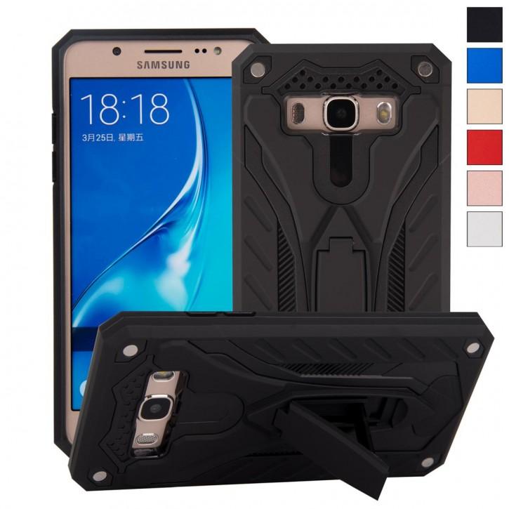 COOVY® Cover für Samsung Galaxy J5 SM-J510 SM-J510F/DS (Model 2016) Bumper Case, Hülle Doppelschicht aus Plastik + TPU-Silikon, extra stark, Anti-Shock, Standfunktion |