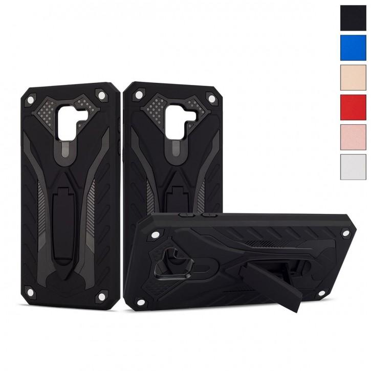 COOVY® Cover für Samsung Galaxy J6 SM-J600 / SM-J600F/DS (Model 2018) Bumper Case, Hülle Doppelschicht aus Plastik + TPU-Silikon, extra stark, Anti-Shock, Standfunktion |