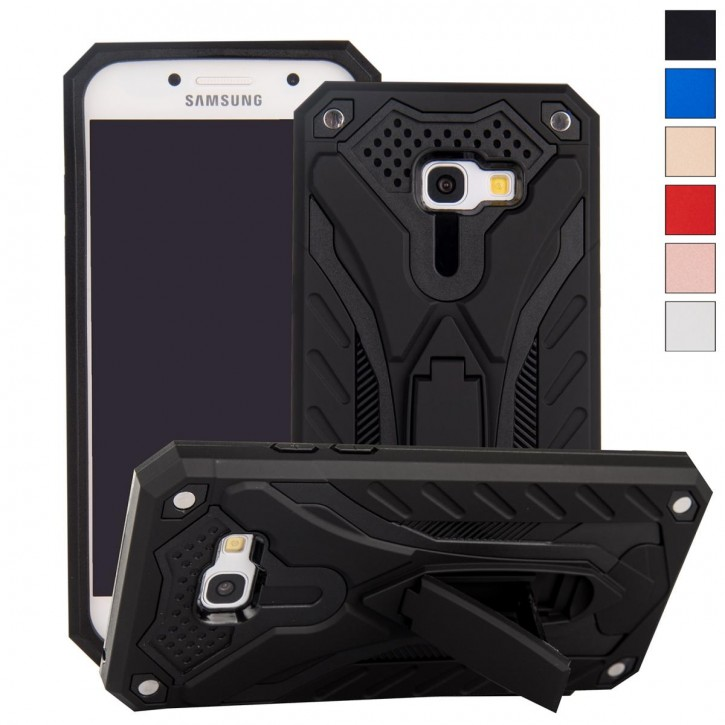COOVY® Cover für Samsung Galaxy A5 SM-A520 / SM-A520F (Model 2017) Bumper Case, Hülle Doppelschicht aus Plastik + TPU-Silikon, extra stark, Anti-Shock, Standfunktion |