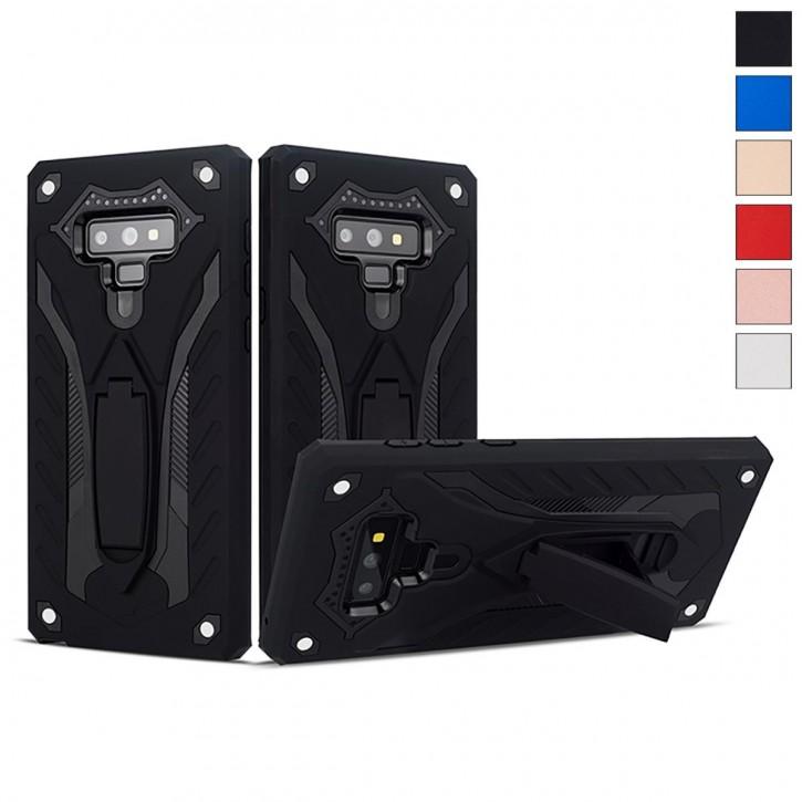 COOVY® Cover für Samsung Galaxy Note 9 SM-N960F / SM-N960F/DS Bumper Case, Hülle Doppelschicht aus Plastik + TPU-Silikon, extra stark, Anti-Shock, Standfunktion |