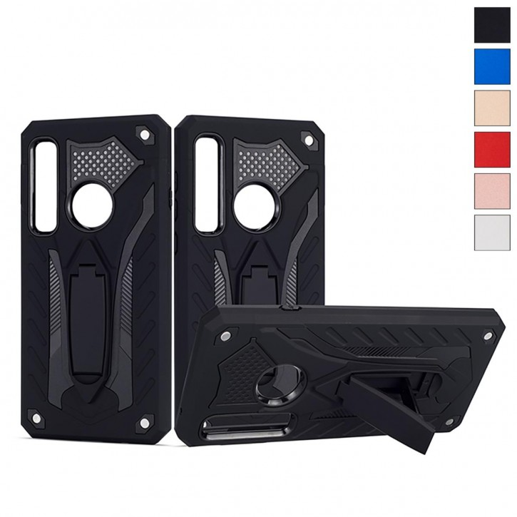COOVY® Cover für Samsung Galaxy A9 SM-A920 / SM-A920F/DS / A9 Star Pro/ A9s (Model 2018) Bumper Case, Hülle Doppelschicht aus Plastik + TPU-Silikon, extra stark, Anti-Shock, Standfunktion  