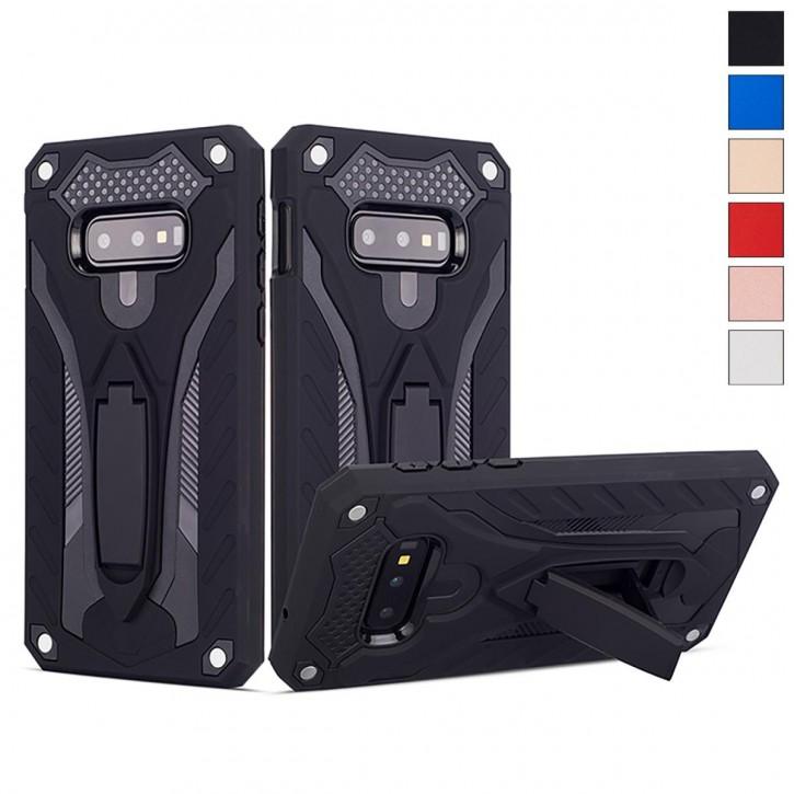 COOVY® Cover für Samsung Galaxy S10e SM-G970F Bumper Case, Hülle Doppelschicht aus Plastik + TPU-Silikon, extra stark, Anti-Shock, Standfunktion |