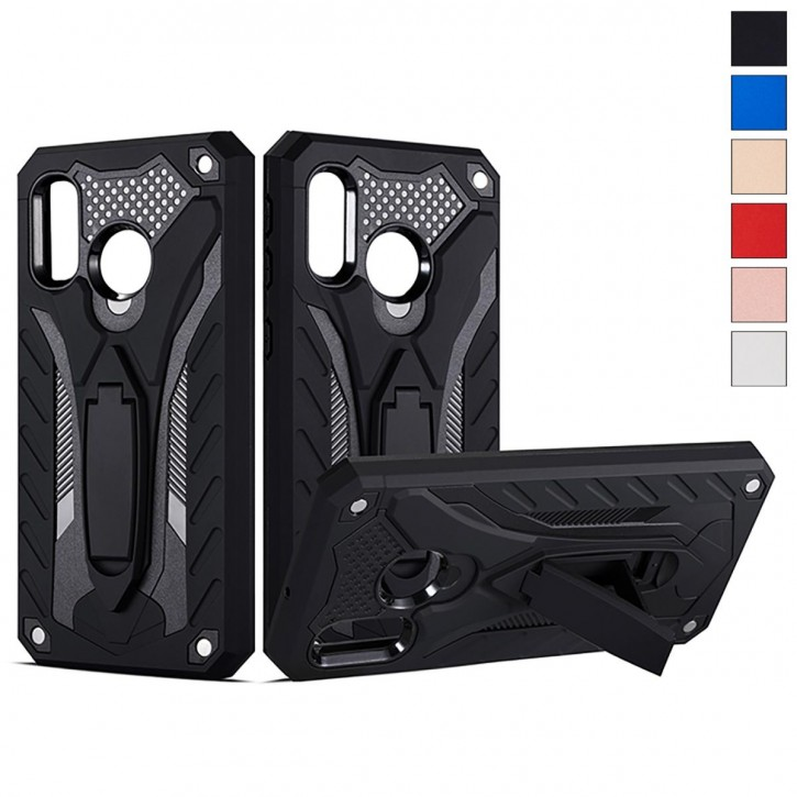 COOVY® Cover für Samsung Galaxy A40 SM-A405F/DS / SM-A405FN/DS Case, Hülle Doppelschicht aus Plastik + TPU-Silikon, extra stark, Anti-Shock, Standfunktion