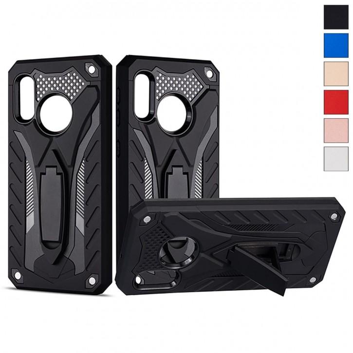 COOVY® Cover für Samsung Galaxy A20e SM-A202F/DS Bumper Case, Hülle Doppelschicht aus Plastik + TPU-Silikon, extra stark, Anti-Shock, Standfunktion |
