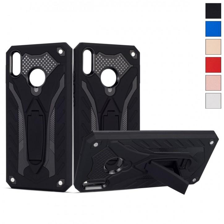 COOVY® Cover für Huawei Honor 8X / Honor View 10 lite Bumper Case, Hülle Doppelschicht aus Plastik + TPU-Silikon, extra stark, Anti-Shock, Standfunktion  