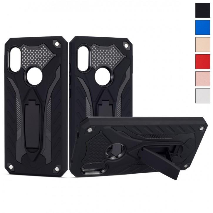 COOVY® Cover für Xiaomi Redmi Note 6 / Note 6 pro Bumper Case, Hülle Doppelschicht aus Plastik + TPU-Silikon, extra stark, Anti-Shock, Standfunktion |