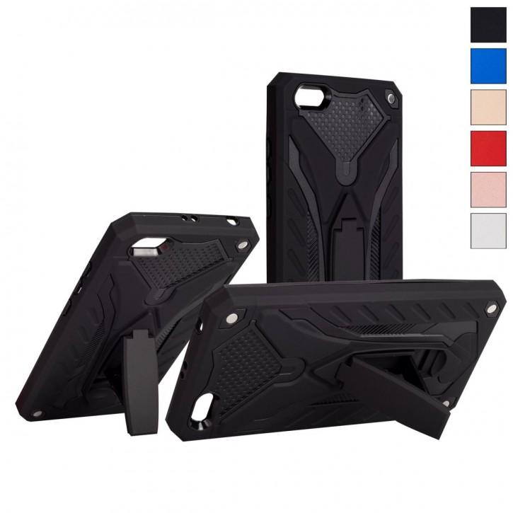 COOVY® Cover für Xiaomi Redmi 5A Bumper Case, Hülle Doppelschicht aus Plastik + TPU-Silikon, extra stark, Anti-Shock, Standfunktion |