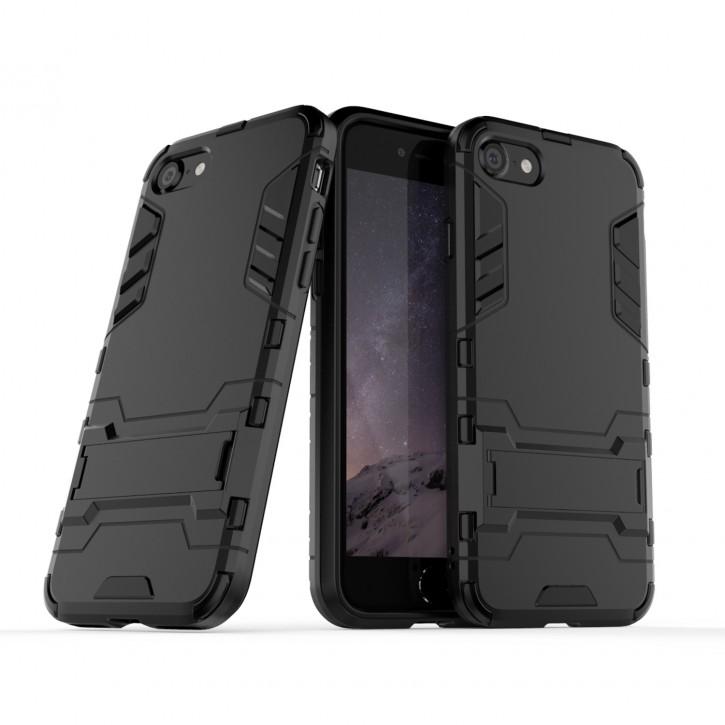 COOVY® Cover für Apple iPhone SE (Model 2020) Bumper Case, Doppelschicht aus Plastik + TPU-Silikon, extra stark, Anti-Shock Hülle, Standfunktion |