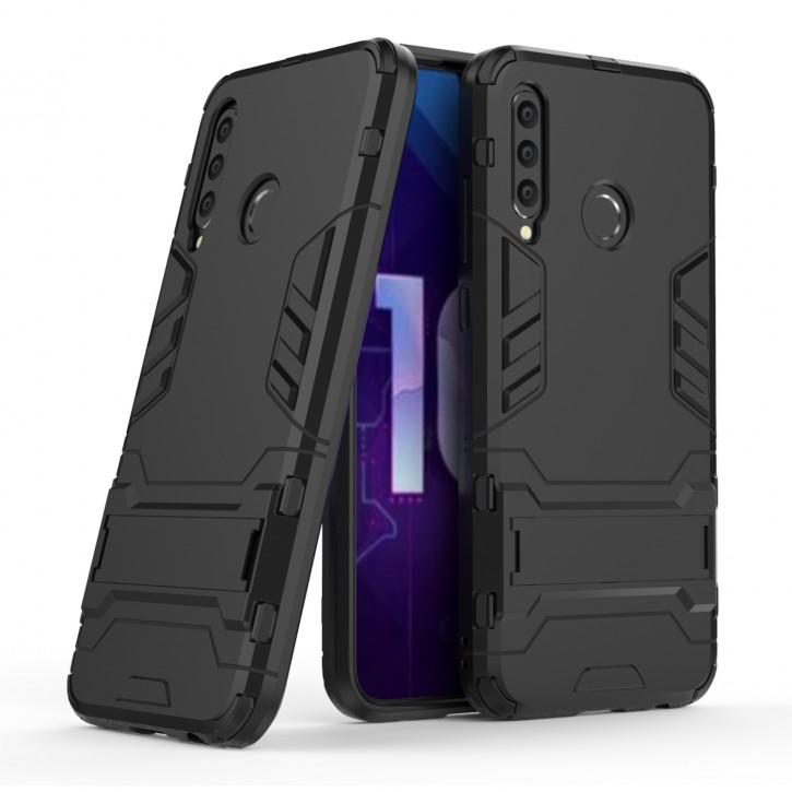 COOVY® Cover für Huawei Honor 20 Lite Bumper Case, Doppelschicht aus Plastik + TPU-Silikon, extra stark, Anti-Shock Hülle, Standfunktion |