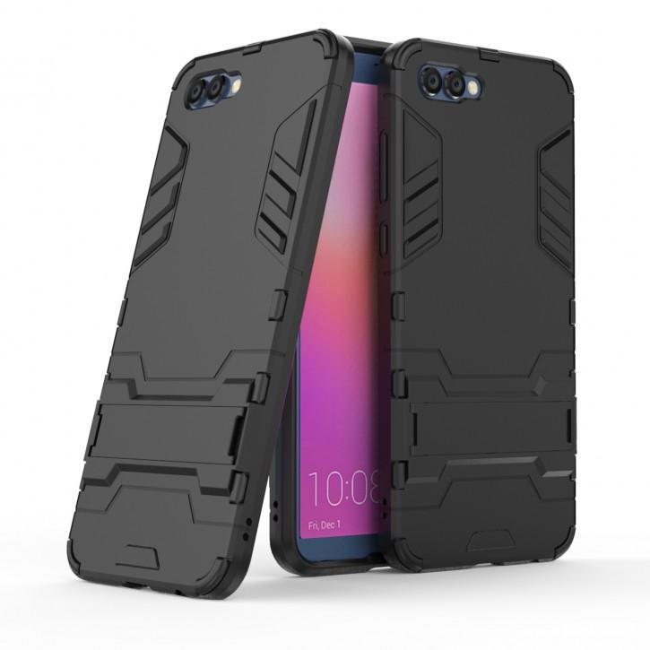 COOVY® Cover für Huawei Honor View 10 / V10 Bumper Case, Doppelschicht aus Plastik + TPU-Silikon, extra stark, Anti-Shock Hülle, Standfunktion |