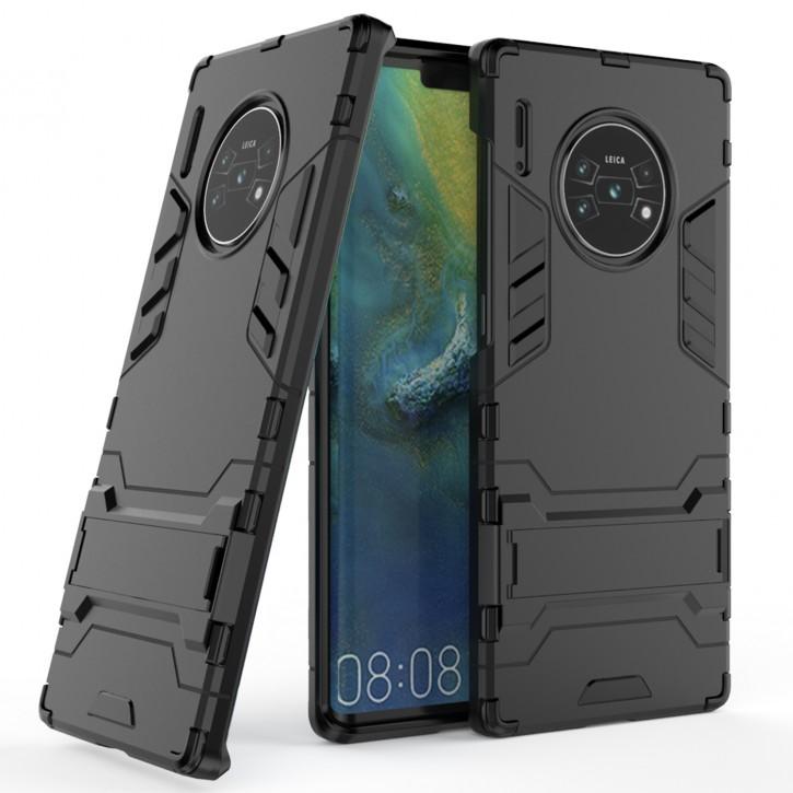 COOVY® Cover für Huawei Mate 30 pro / 5G Bumper Case, Doppelschicht aus Plastik + TPU-Silikon, extra stark, Anti-Shock Hülle, Standfunktion |