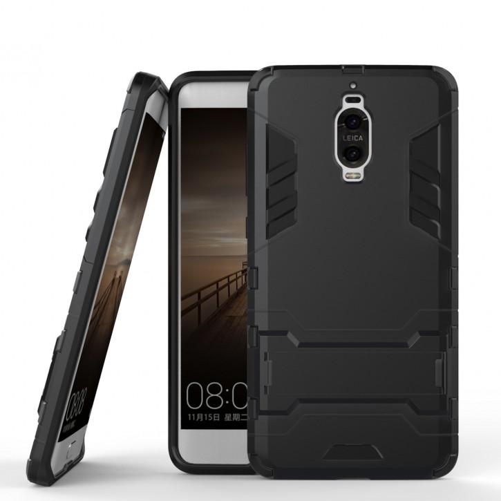COOVY® Cover für Huawei Mate 9 pro Bumper Case, Doppelschicht aus Plastik + TPU-Silikon, extra stark, Anti-Shock Hülle, Standfunktion |