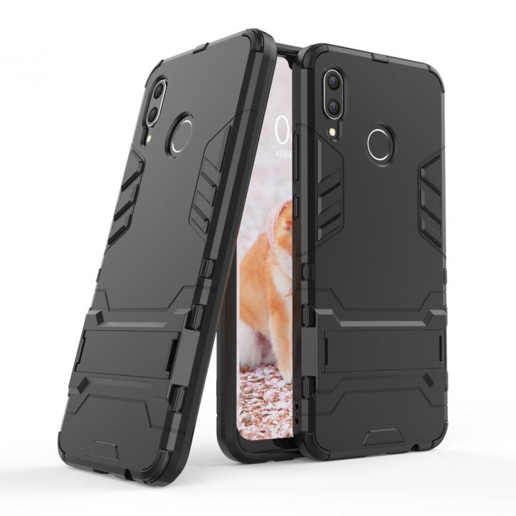 COOVY® Cover für Huawei NOVA 3 Bumper Case, Doppelschicht aus Plastik + TPU-Silikon, extra stark, Anti-Shock Hülle, Standfunktion |