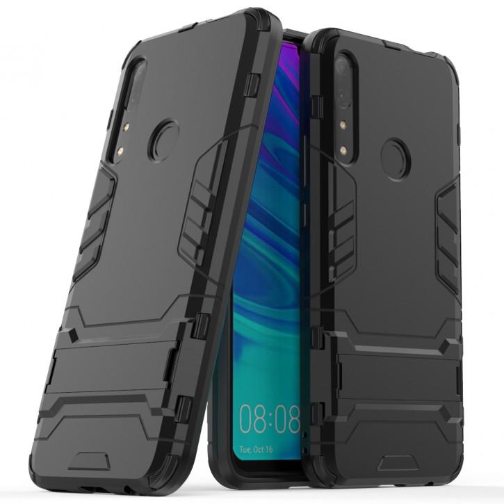 COOVY® Cover für Huawei P SMART Z / Y9 Prime 2019 / Honor 9X  Bumper Case, Doppelschicht aus Plastik + TPU-Silikon, extra stark, Anti-Shock Hülle, Standfunktion |