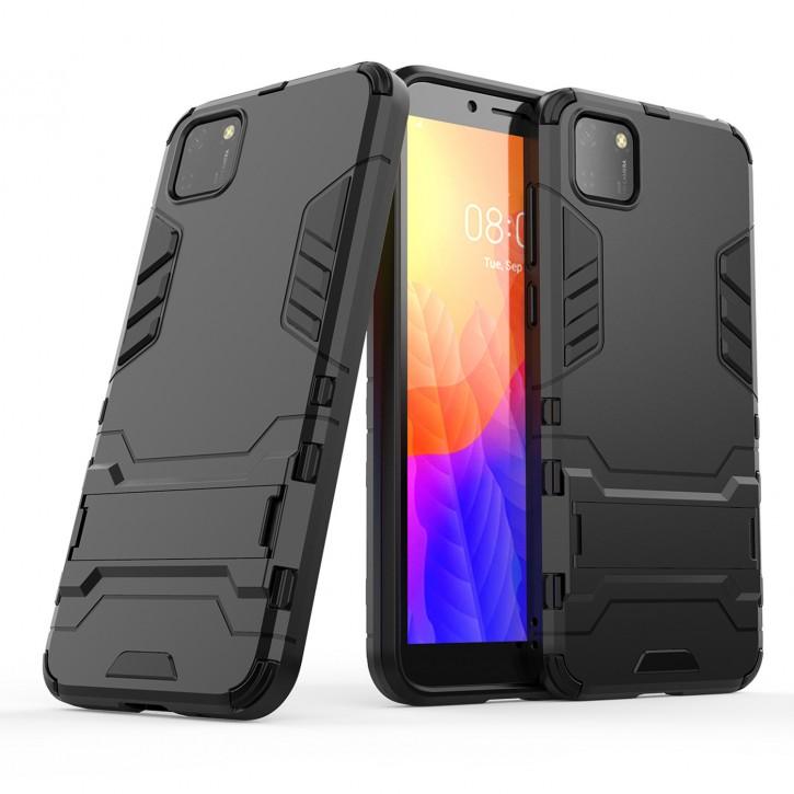 COOVY® Cover für Huawei Y5p / Honor 9S Bumper Case, Doppelschicht aus Plastik + TPU-Silikon, extra stark, Anti-Shock Hülle, Standfunktion  