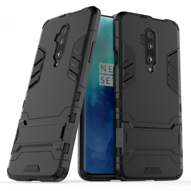 COOVY® Cover für Oneplus 7 Pro / 7T Pro Bumper Case, Doppelschicht aus Plastik + TPU-Silikon, extra stark, Anti-Shock Hülle, Standfunktion |