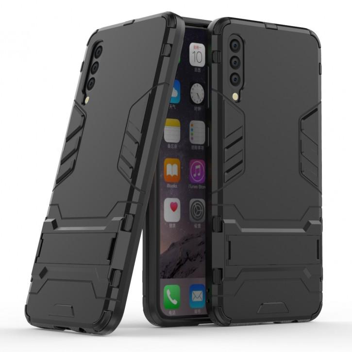 COOVY® Cover für Samsung Galaxy A50 SM-A505F/DS / A30s SM-A307FN/DS Bumper Case, Doppelschicht aus Plastik + TPU-Silikon, extra stark, Anti-Shock Hülle, Standfunktion |