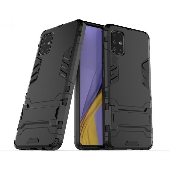 COOVY® Cover für Samsung Galaxy A51 SM-A515F/DSN Bumper Case, Doppelschicht aus Plastik + TPU-Silikon, extra stark, Anti-Shock Hülle, Standfunktion |