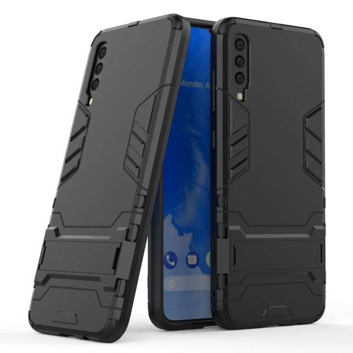 COOVY® Cover für Samsung Galaxy A70s / A70 SM-A707F/DS, SM-A707FN/DS Bumper Case, Doppelschicht aus Plastik + TPU-Silikon, extra stark, Anti-Shock Hülle, Standfunktion |