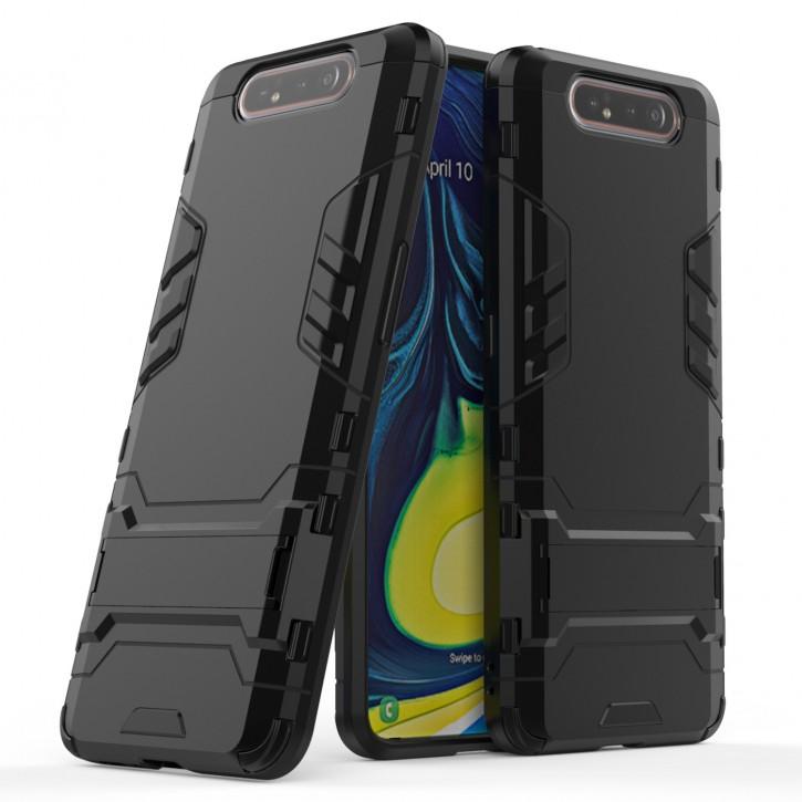 COOVY® Cover für Samsung Galaxy A80 SM-A805F/DS A90 Bumper Case, Doppelschicht aus Plastik + TPU-Silikon, extra stark, Anti-Shock Hülle, Standfunktion |