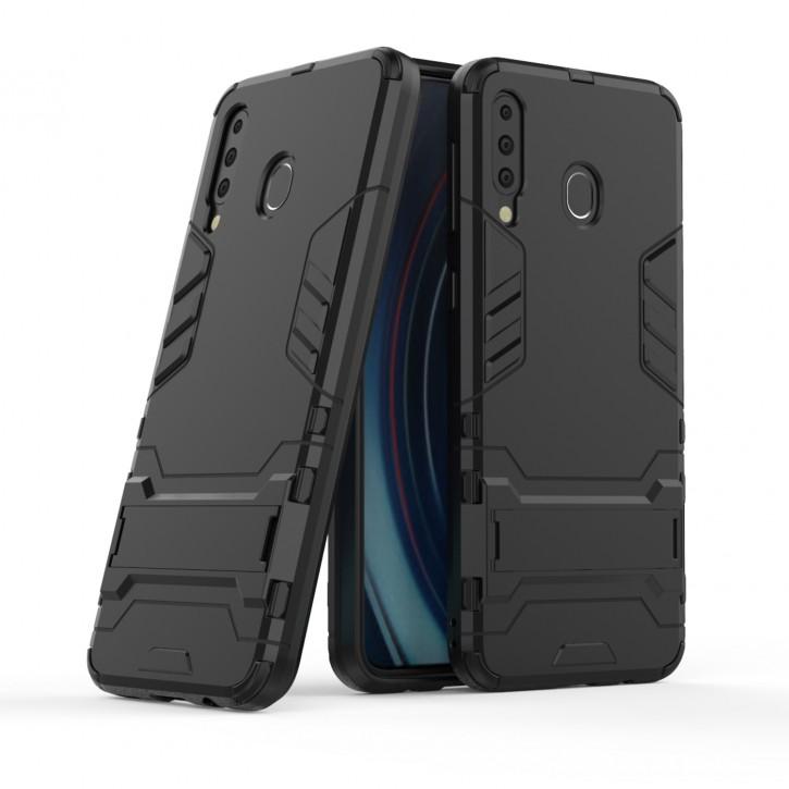 COOVY® Cover für Samsung Galaxy M30 SM-M305F/DS / SM-M305FN/DS  Bumper Case, Doppelschicht aus Plastik + TPU-Silikon, extra stark, Anti-Shock Hülle, Standfunktion |
