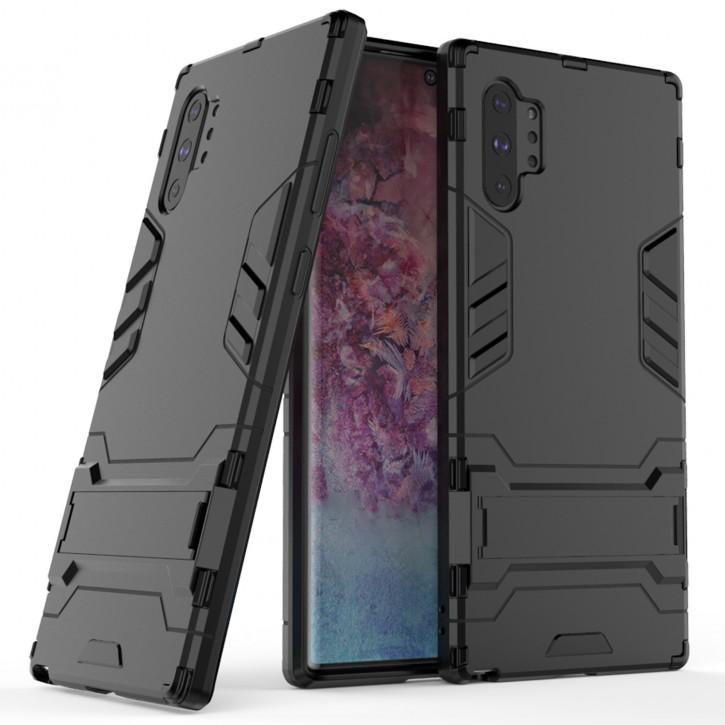 COOVY® Cover für Samsung Galaxy Note 10 + plus SM-N975F / SM-N976F Bumper Case, Doppelschicht aus Plastik + TPU-Silikon, extra stark, Anti-Shock Hülle, Standfunktion |