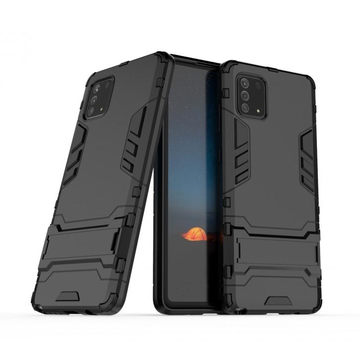 COOVY® Cover für Samsung Galaxy Note 10 Lite SM-N770F/DS Bumper Case, Doppelschicht aus Plastik + TPU-Silikon, extra stark, Anti-Shock Hülle, Standfunktion |