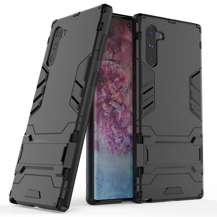 COOVY® Cover für Samsung Galaxy Note 10 SM-N970F / SM-N970F/DS Bumper Case, Doppelschicht aus Plastik + TPU-Silikon, extra stark, Anti-Shock Hülle, Standfunktion |