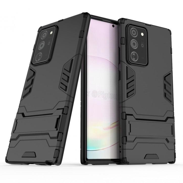 COOVY® Cover für Samsung Galaxy Note 20 Ultra  SM-N986B Bumper Case, Doppelschicht aus Plastik + TPU-Silikon, extra stark, Anti-Shock Hülle, Standfunktion |