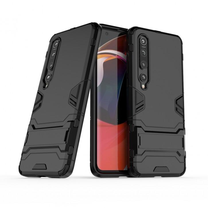 COOVY® Cover für Xiaomi Mi 10 5G / 10 Pro 5G Bumper Case, Doppelschicht aus Plastik + TPU-Silikon, extra stark, Anti-Shock Hülle, Standfunktion |