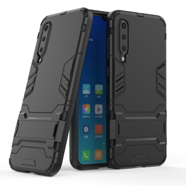 COOVY® Cover für Xiaomi Mi 9 SE Bumper Case, Doppelschicht aus Plastik + TPU-Silikon, extra stark, Anti-Shock Hülle, Standfunktion |