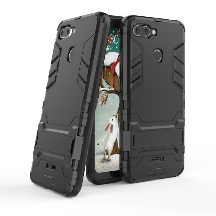 COOVY® Cover für Xiaomi Redmi 6 Bumper Case, Doppelschicht aus Plastik + TPU-Silikon, extra stark, Anti-Shock Hülle, Standfunktion |