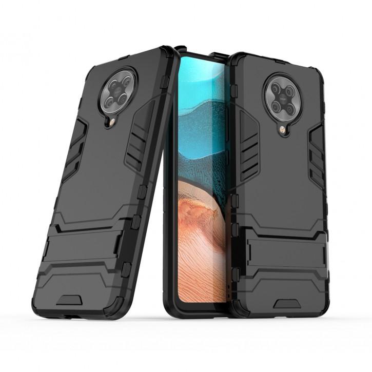 COOVY® Cover für Xiaomi Redmi K30 Pro / Poco F2 Pro Bumper Case, Doppelschicht aus Plastik + TPU-Silikon, extra stark, Anti-Shock Hülle, Standfunktion |