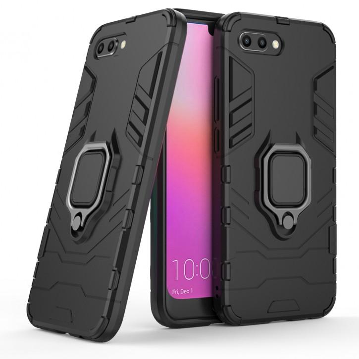 COOVY® Cover für Huawei Honor 10 Bumper Case, Plastik + TPU-Silikon, extra stark, Anti-Shock, Stand Funktion + Magnethalter kompatibel |