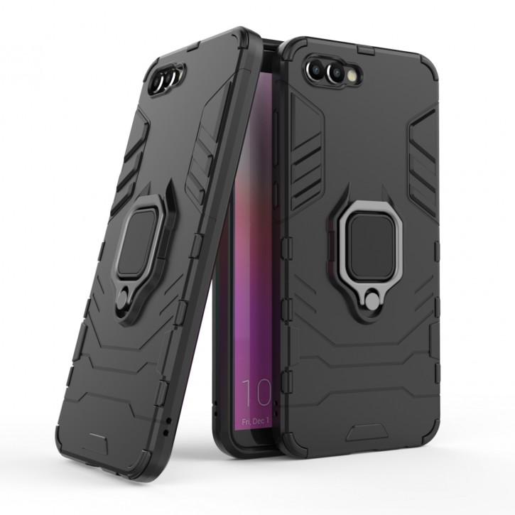 COOVY® Cover für Huawei Honor View 10 / V10 Bumper Case, Plastik + TPU-Silikon, extra stark, Anti-Shock, Stand Funktion + Magnethalter kompatibel |