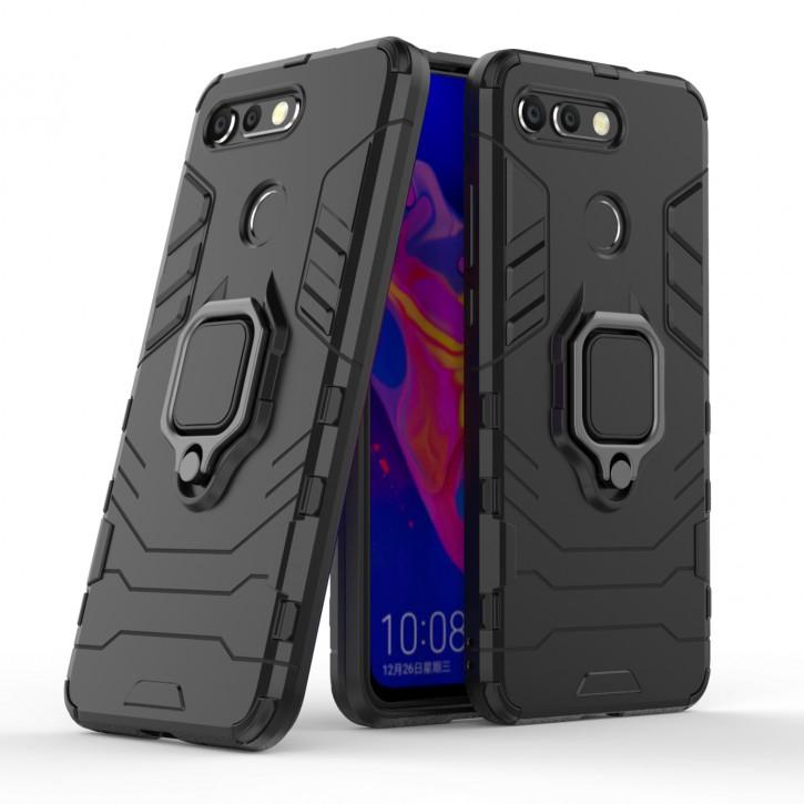 COOVY® Cover für Huawei Honor View 20 / V20 Bumper Case, Plastik + TPU-Silikon, extra stark, Anti-Shock, Stand Funktion + Magnethalter kompatibel |
