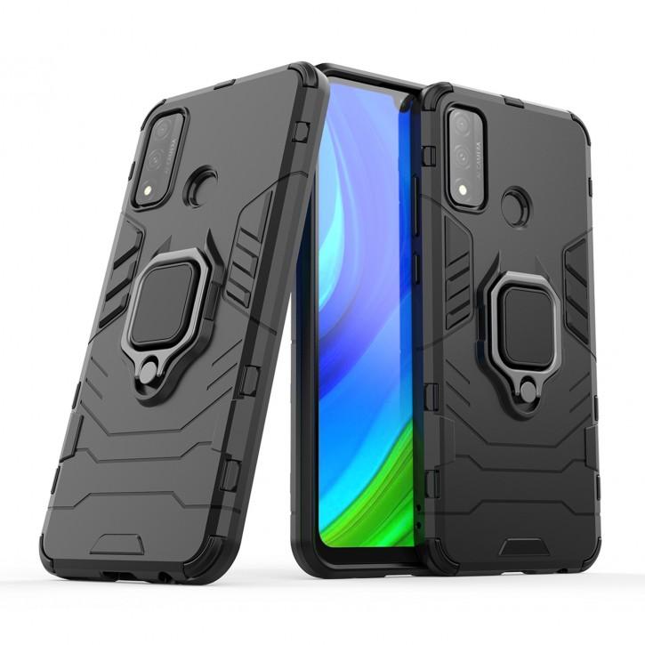 COOVY® Cover für Huawei P Smart 2020 Bumper Case, Plastik + TPU-Silikon, extra stark, Anti-Shock, Stand Funktion + Magnethalter kompatibel  